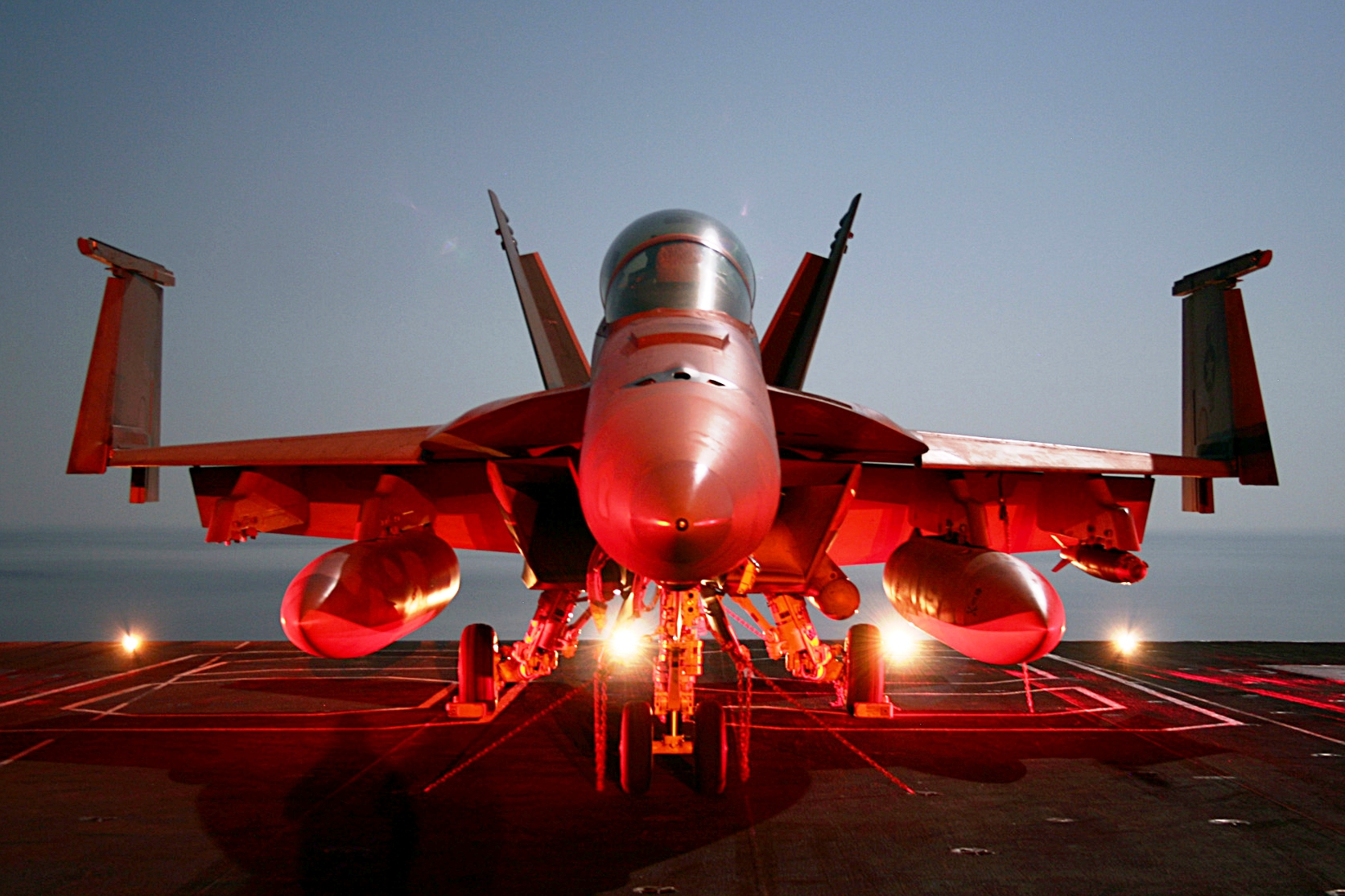 Super Hornet on flight deck