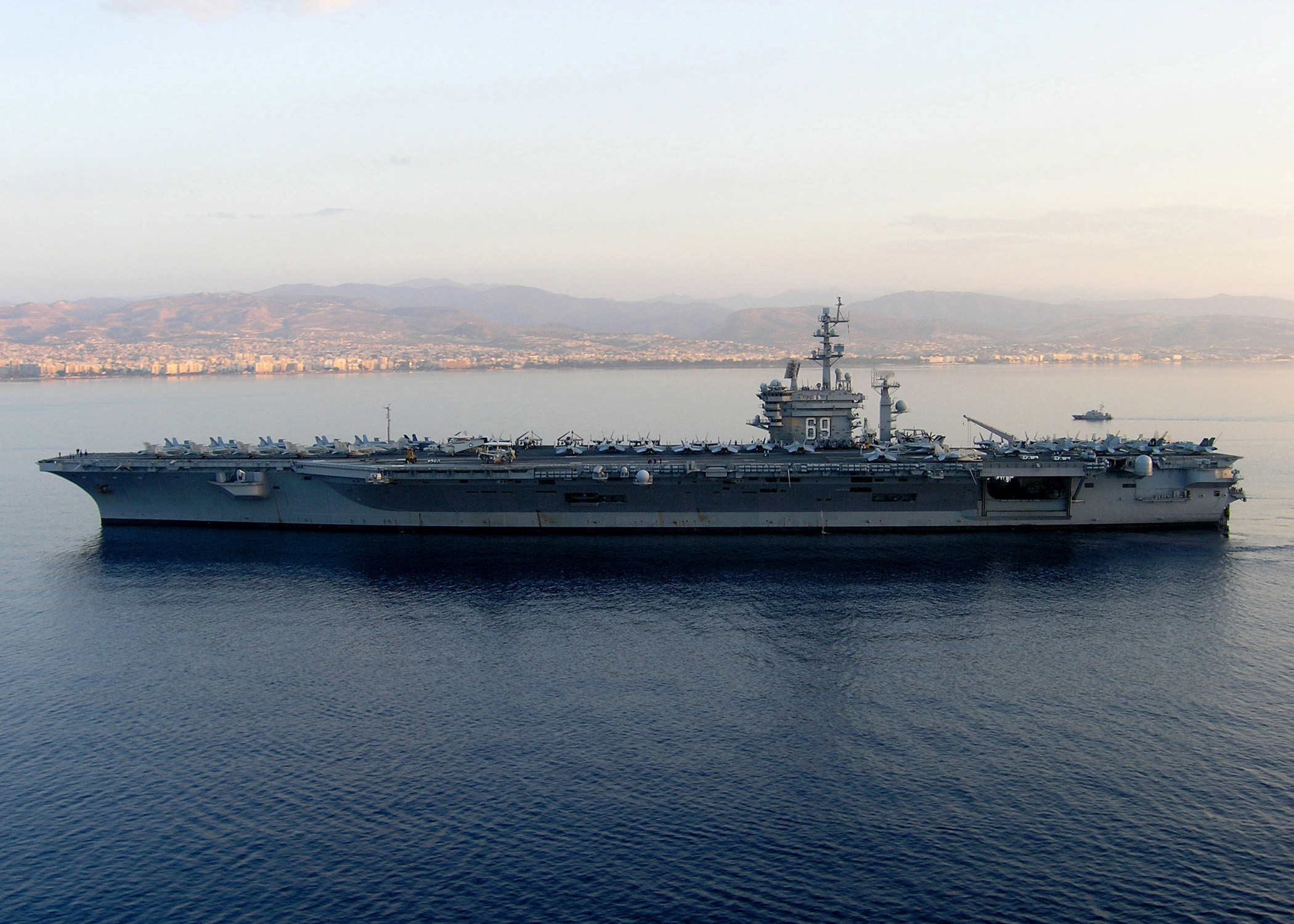 USS Dwight D. Eisenhower near Cyprus
