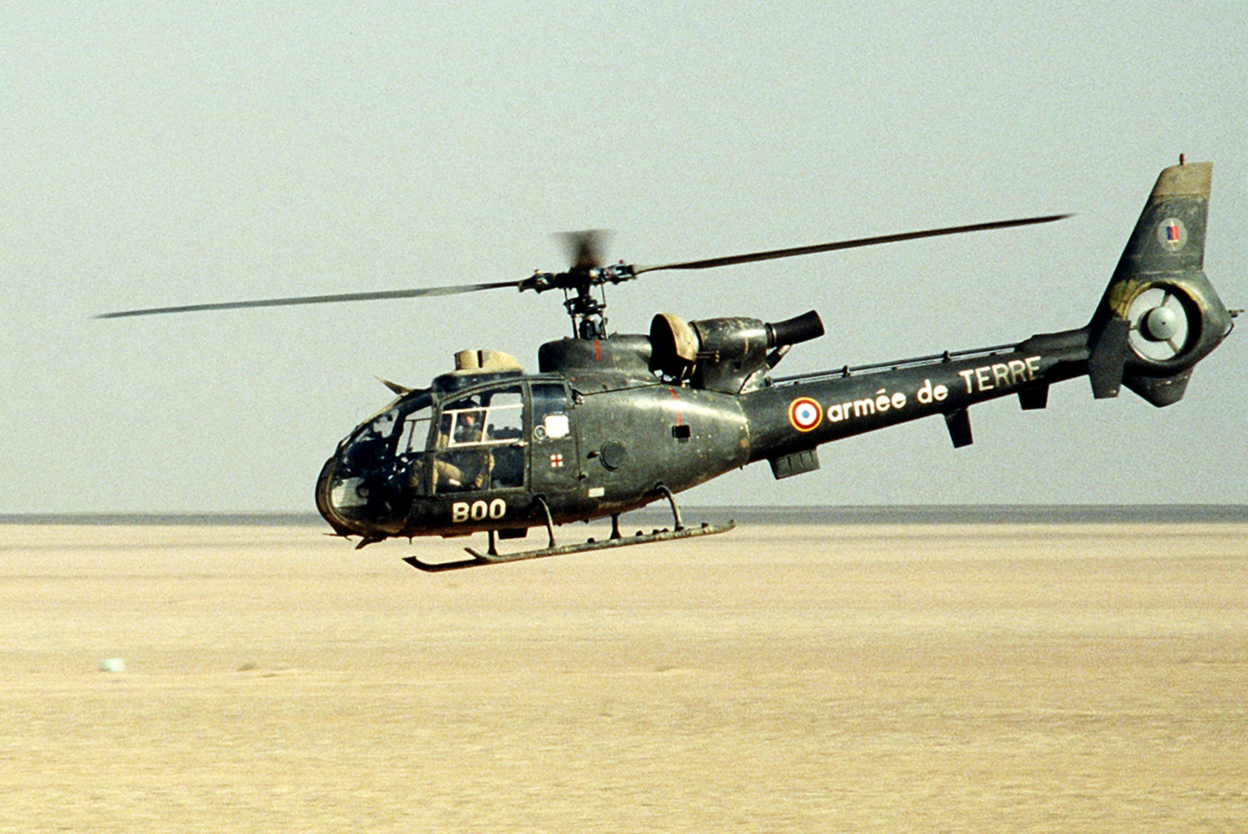French SA341F2 Gazelle during Desert Shield