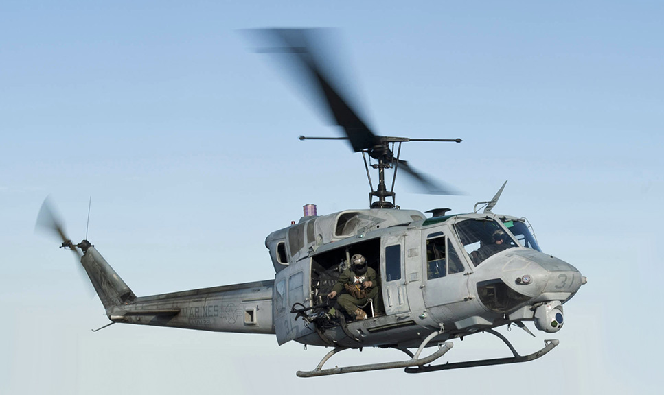 US Navy UH 1N Huey