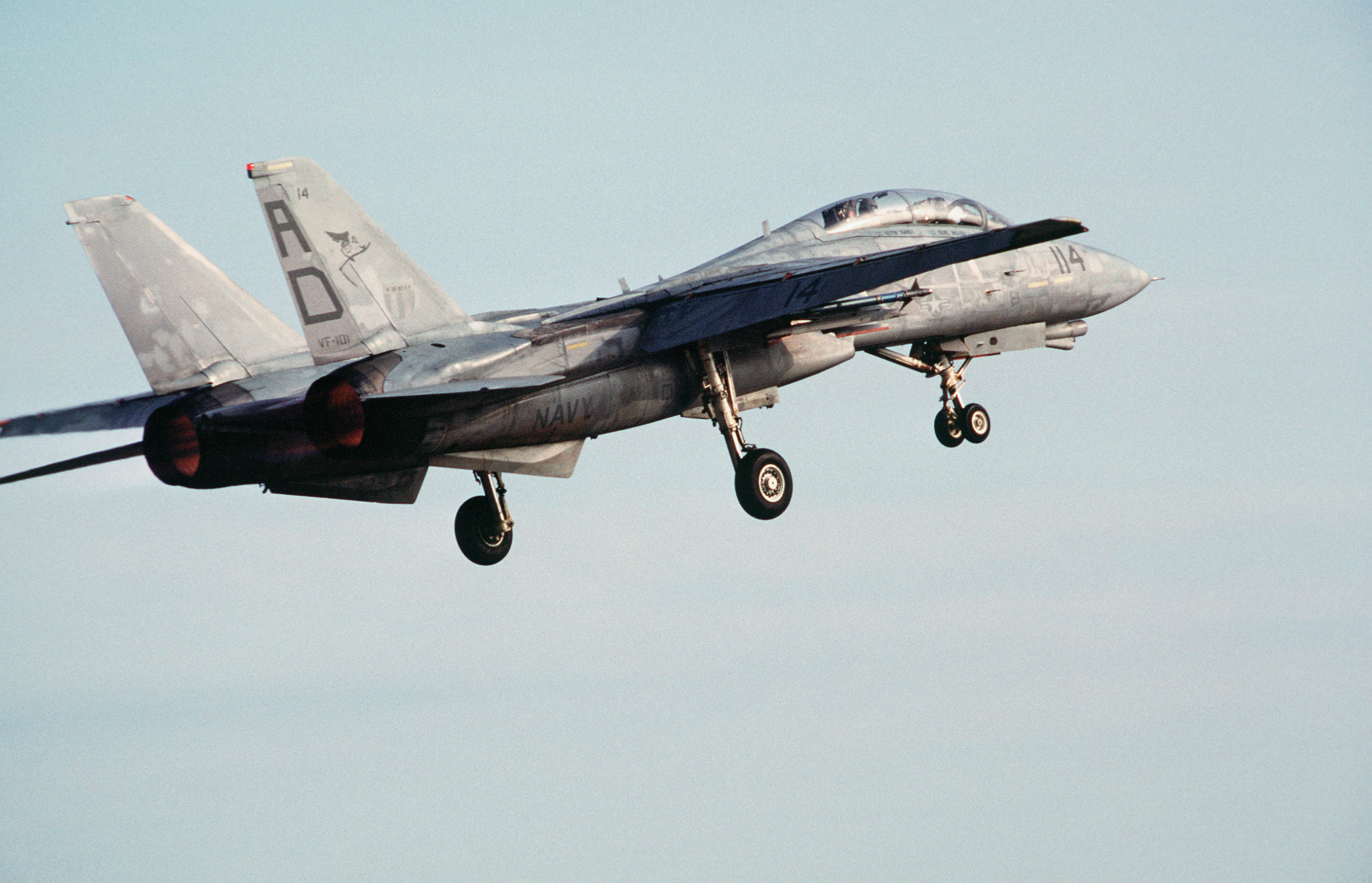 F 14 Tomcat with landing gear down
