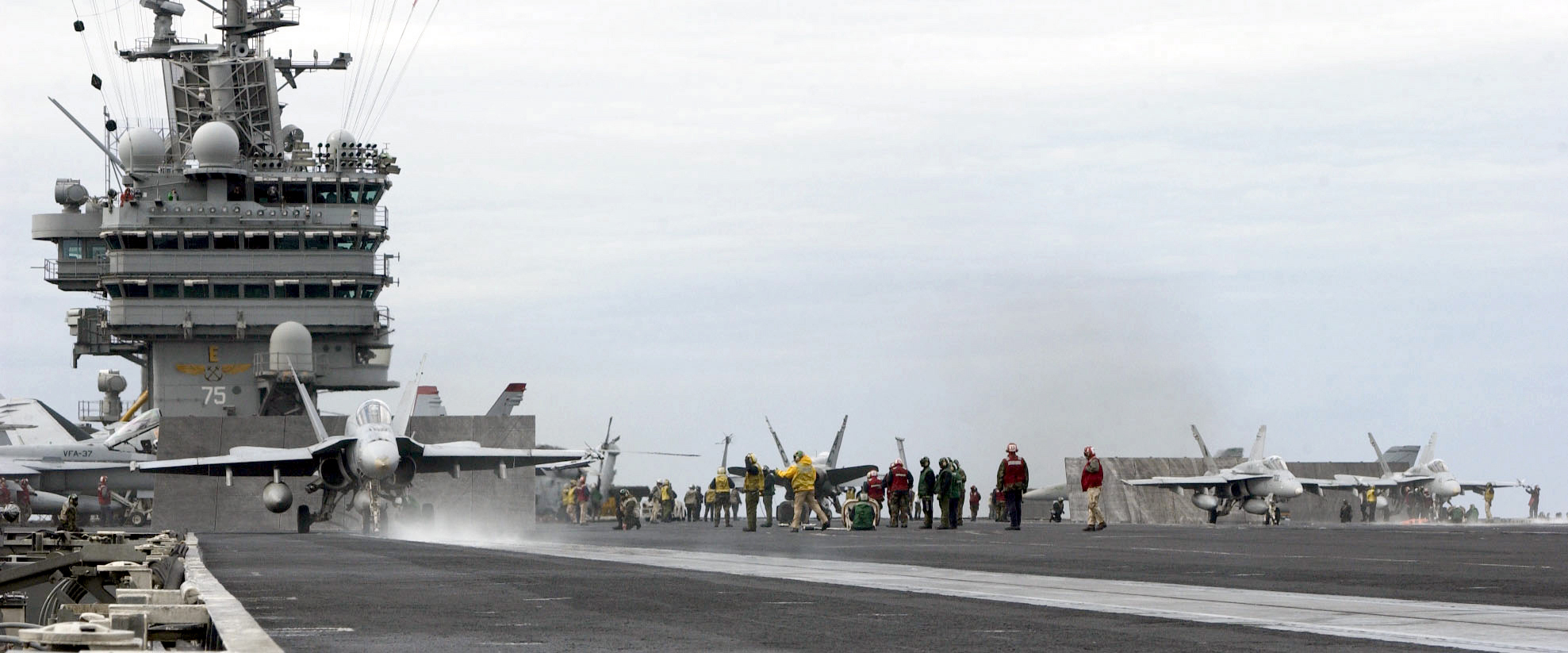 USS Harry S Truman CVN 75 Flight Deck